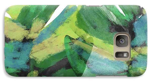 Galaxy Case featuring the mixed media Tropical Dreams 1- Art By Linda Woods by Linda Woods