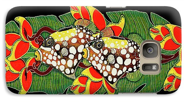 Galaxy Case featuring the painting Tropical Fish by Debbie Chamberlin