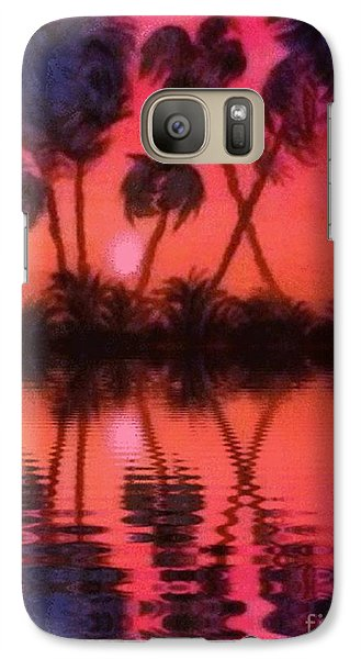Galaxy Case featuring the painting Tropical Heat Wave by Holly Martinson