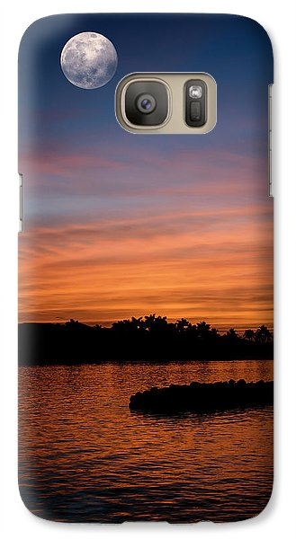 Galaxy Case featuring the photograph Tropical Moon by Laura Fasulo