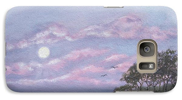 Galaxy Case featuring the painting Tropical Moonrise by Kathleen McDermott