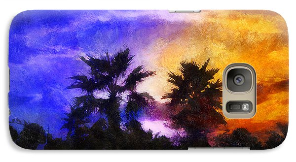 Galaxy Case featuring the digital art Tropical Night Fall by Francesa Miller
