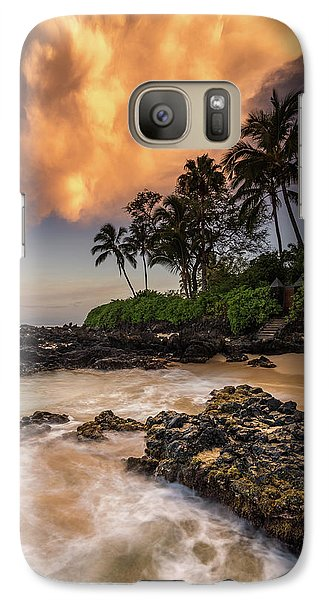 Galaxy Case featuring the photograph Tropical Nuclear Sunrise by Pierre Leclerc Photography