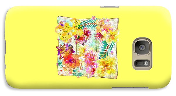 Galaxy Case featuring the digital art Tropicana Abstract By Kaye Menner by Kaye Menner