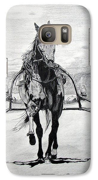 Galaxy Case featuring the drawing Trotter by Melita Safran