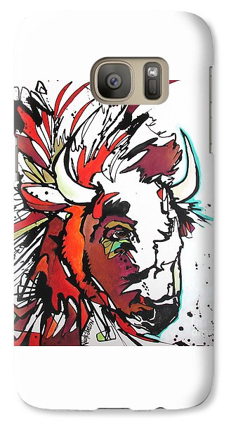 Galaxy Case featuring the painting Trouble by Nicole Gaitan