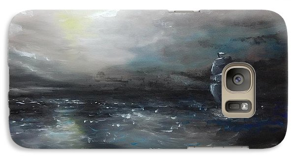 Galaxy Case featuring the painting Troubled Waters by Isabella F Abbie Shores FRSA