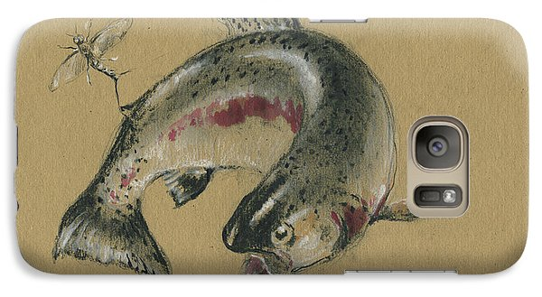 Trout Galaxy S7 Case - Trout Eating by Juan Bosco