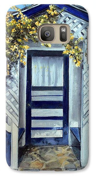 Galaxy Case featuring the painting Trowbridge House Triangle L Ranch, Oracle Az by Anna-maria Dickinson