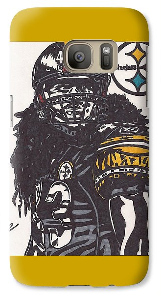 Galaxy Case featuring the drawing Troy Polomalu 1 by Jeremiah Colley