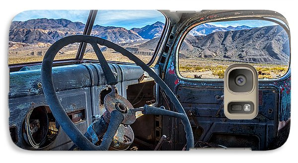 Truck Desert View Galaxy S7 Case by Peter Tellone