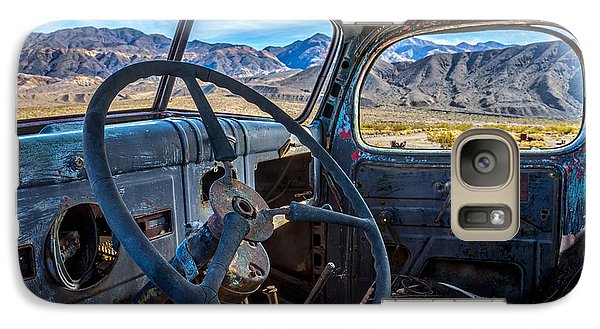 Truck Desert View Galaxy Case by Peter Tellone