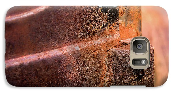 Galaxy Case featuring the photograph Truck Door Hinge by Onyonet  Photo Studios