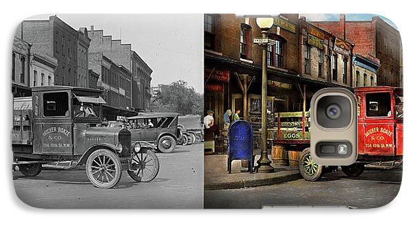 Galaxy Case featuring the photograph Truck - Home Dressed Poultry 1926 - Side By Side by Mike Savad