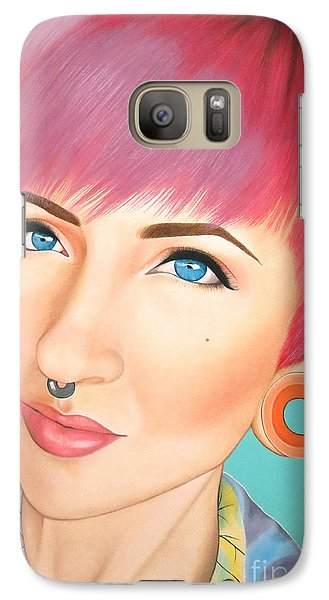 Galaxy Case featuring the painting True Beauty - Jerica Wentzell by Malinda Prudhomme