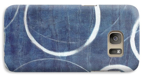 Galaxy Case featuring the painting True Blue Ensos by Julie Niemela