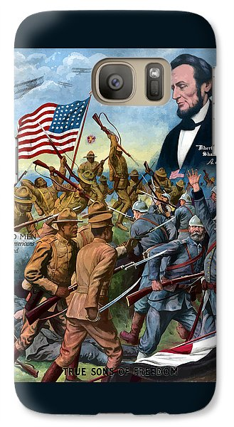 True Sons Of Freedom -- Ww1 Propaganda Galaxy Case by War Is Hell Store