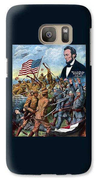 True Sons Of Freedom -- Ww1 Propaganda Galaxy S7 Case by War Is Hell Store