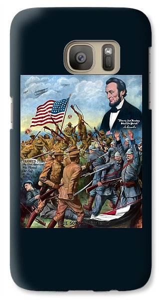 Abraham Lincoln Galaxy S7 Case - True Sons Of Freedom -- Ww1 Propaganda by War Is Hell Store