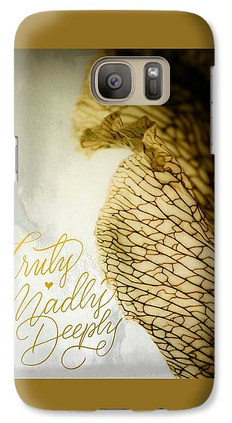 Galaxy Case featuring the photograph Truly Madly Deeply by Bobby Villapando