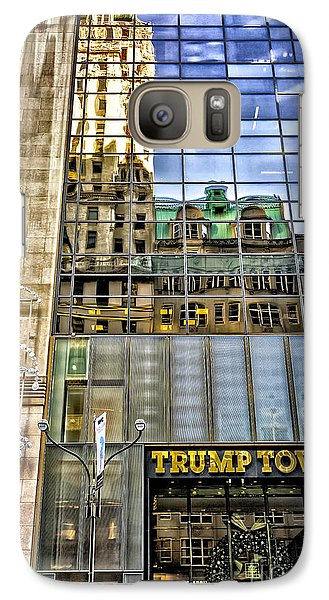 Galaxy Case featuring the photograph Trump Tower With Reflections by Walt Foegelle