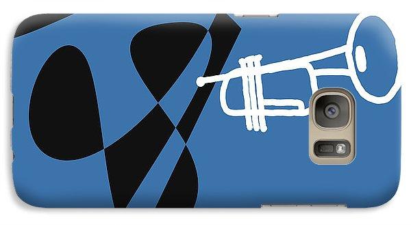 Galaxy Case featuring the digital art Trumpet In Blue by Jazz DaBri