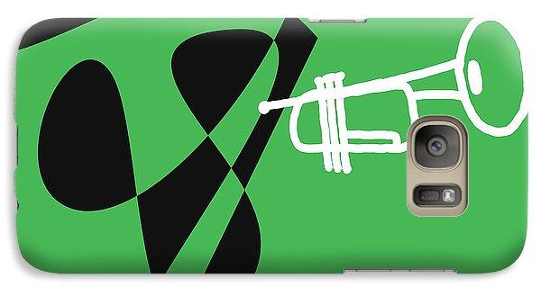 Galaxy Case featuring the digital art Trumpet In Green by Jazz DaBri