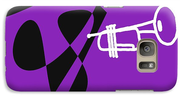 Galaxy Case featuring the digital art Trumpet In Purple by Jazz DaBri