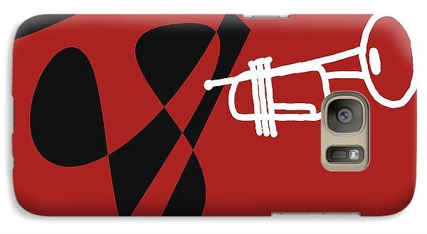 Galaxy Case featuring the digital art Trumpet In Orange Red by Jazz DaBri