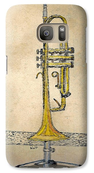 Galaxy Case featuring the digital art Trumpet by Walter Chamberlain