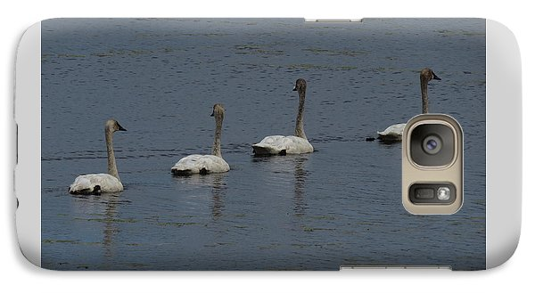 Galaxy Case featuring the photograph Trumpeter Swans by Sandra LaFaut