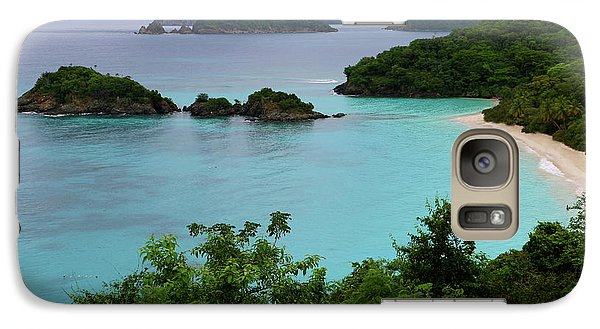 Galaxy Case featuring the photograph Trunk Bay At U.s. Virgin Islands National Park by Jetson Nguyen