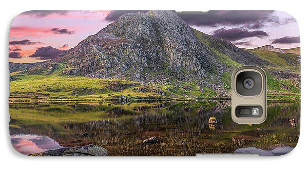 Galaxy Case featuring the photograph Tryfan Mountain Sunset by Adrian Evans