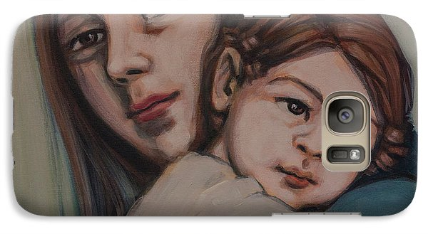 Galaxy Case featuring the painting Trying To Remember by Olimpia - Hinamatsuri Barbu