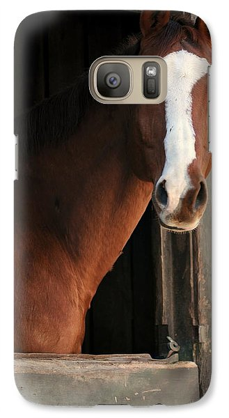 Galaxy Case featuring the photograph T's Window by Angela Rath