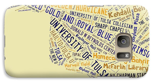 Tu Word Art University Of Tulsa Galaxy Case by Roberta Peake