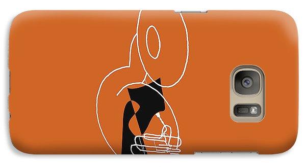 Galaxy Case featuring the digital art Tuba In Orange by Jazz DaBri