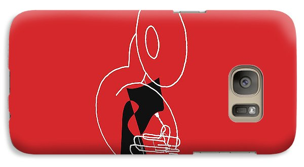 Galaxy Case featuring the digital art Tuba In Red by Jazz DaBri