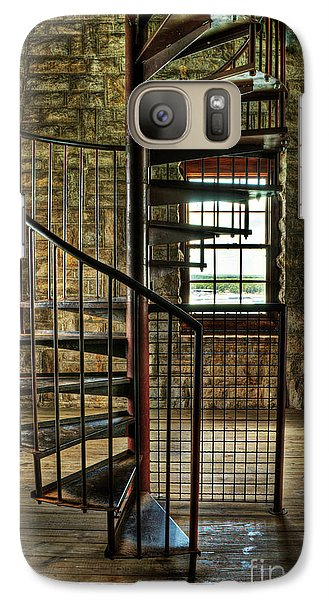 Galaxy Case featuring the photograph Tucker's Tower Spiral Staircase by Tamyra Ayles
