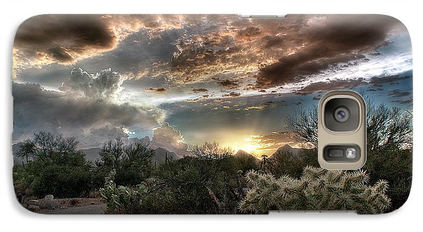 Tucson Mountain Sunset Galaxy S7 Case by Lynn Geoffroy