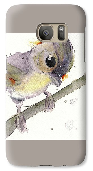 Galaxy Case featuring the painting Tufted Titmouse by Dawn Derman
