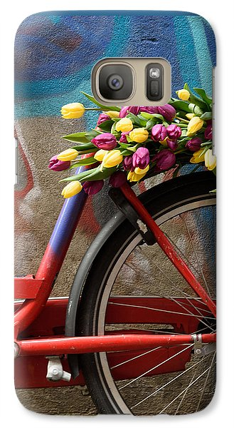 Galaxy Case featuring the photograph Tulip Bike by Phyllis Peterson