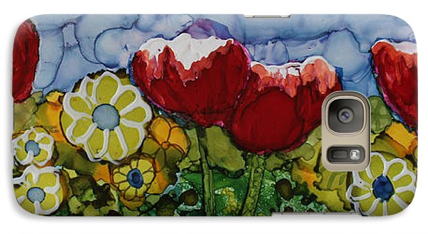 Galaxy Case featuring the painting Tulip Bonanza by Suzanne Canner