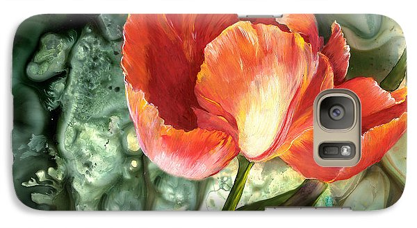 Galaxy Case featuring the painting Tulip Dance by Sherry Shipley