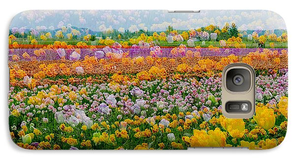 Galaxy Case featuring the photograph Tulip Dreams by Tom Vaughan
