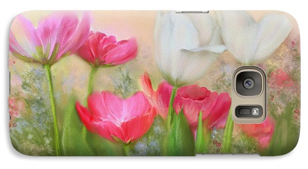 Galaxy Case featuring the painting Tulip Garden by Bonnie Willis