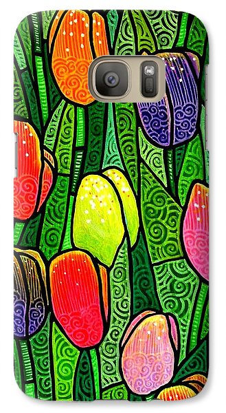 Galaxy Case featuring the painting Tulip Glory by Jim Harris