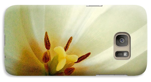 Galaxy Case featuring the photograph Tulip Glow by Gwyn Newcombe