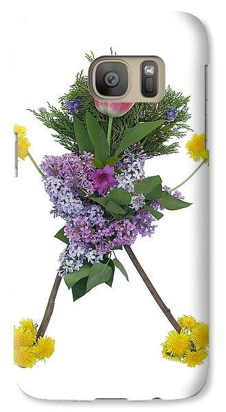 Galaxy Case featuring the digital art Tulip Head by Lise Winne