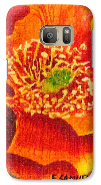 Galaxy Case featuring the painting Tulip Prickly Pear by Eric Samuelson